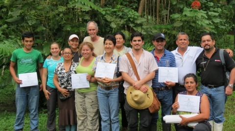 Analog forestry workshop in Londres, Costa Rica
