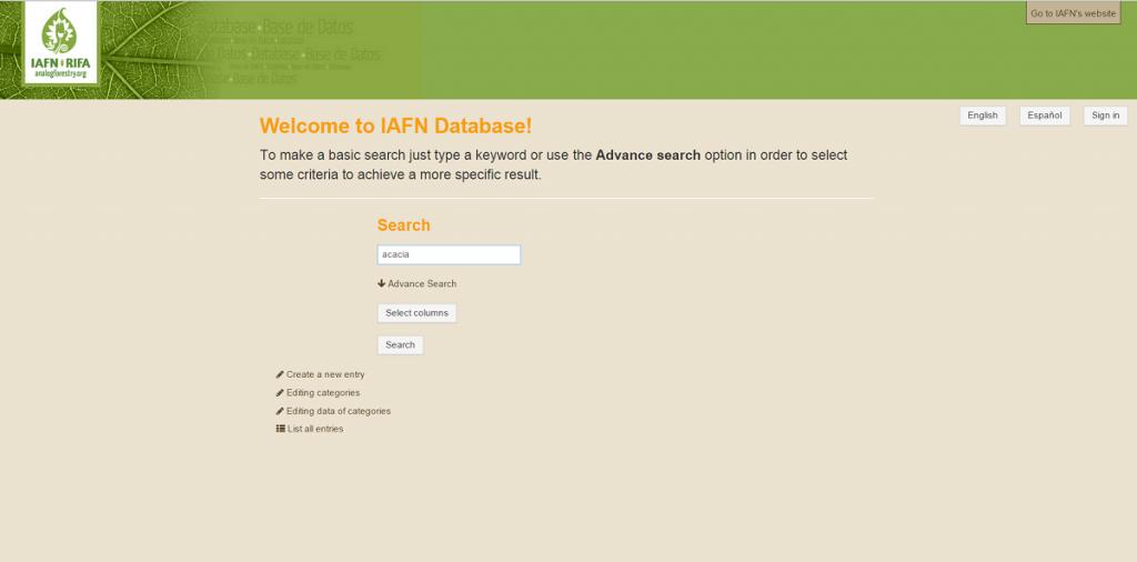 IAFN Plant Database -1