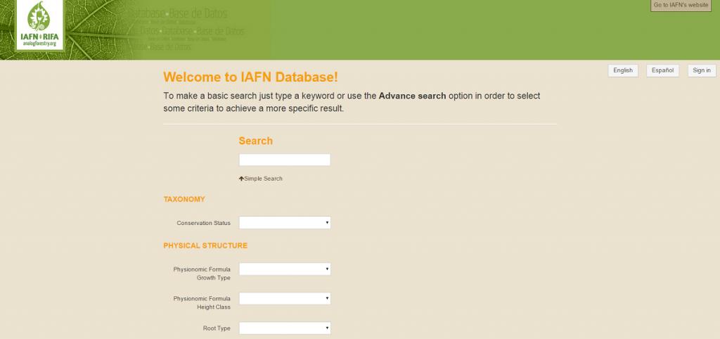 IAFN Plant Database - 2
