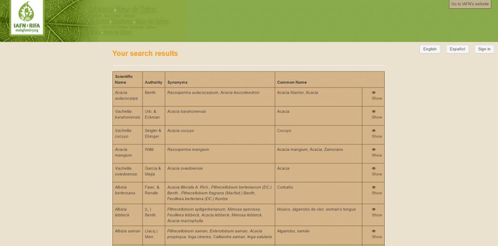 IAFN Plant Database - 3