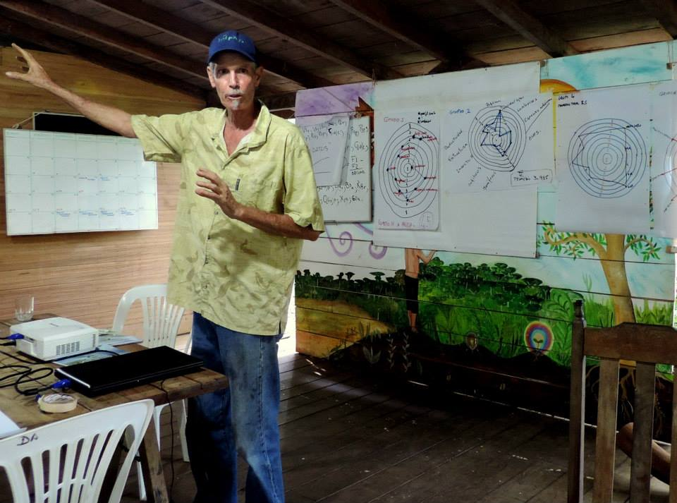 IAFN trainer Milo Bekins in Puerto Maldonado, Peru