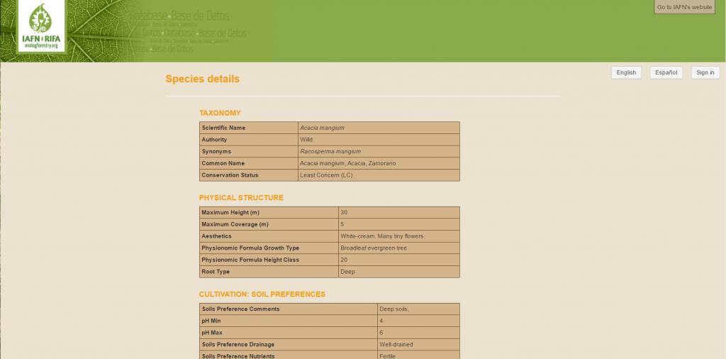 IAFN Plant Database - 4