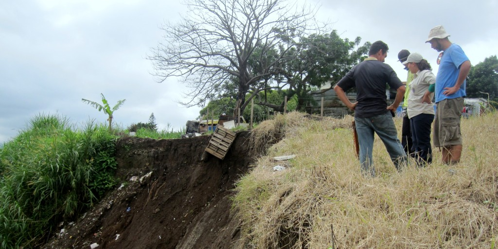Area of a recent landslide in the Los Cipreses neighbourhood in San José. Photo: Kitty Garden
