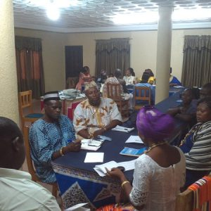 Group work with some policy stakeholders (local chiefs)